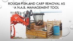 Rough Fish and Carp Removal as a H.A.B. management tool
