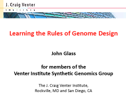 Learning the Rules of Genome Design