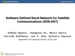 Software Defined Naval Network for Satellite Communications PowerPoint PPT Presentation