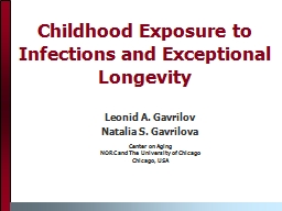 Childhood Exposure to Infections and Exceptional Longevity
