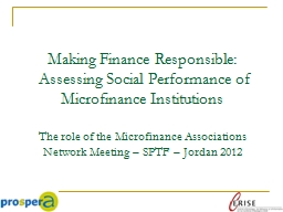 Making Finance Responsible: