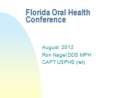 Florida Oral Health Conference PowerPoint PPT Presentation