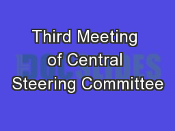 Third Meeting of Central Steering Committee