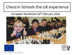 Chess in Schools the UK experience PowerPoint PPT Presentation