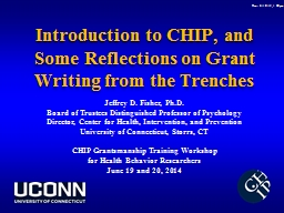 Introduction to CHIP, and