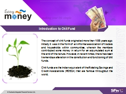 Introduction to Chit Fund