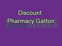 Discount Pharmacy Gatton