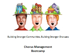 Building Stronger Communities, Building Stronger Choruses