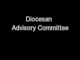 Diocesan Advisory Committee