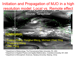 Initiation and Propagation of MJO in a high resolution mode
