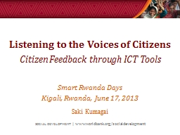 Listening to the Voices of Citizens
