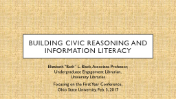 Building civic reasoning and information literacy