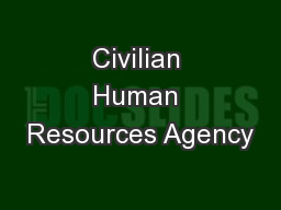 Civilian Human Resources Agency
