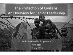 The Protection of Civilians: PowerPoint PPT Presentation