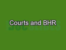 Courts and BHR