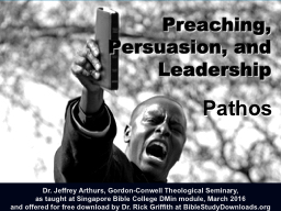 Preaching,  Persuasion, and Leadership