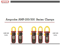 Amprobe AMP-200/300 Series Clamps PowerPoint PPT Presentation