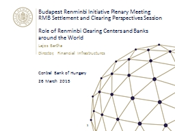 Budapest Renminbi Initiative Plenary Meeting PowerPoint PPT Presentation