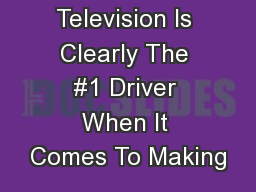 Television Is Clearly The #1 Driver When It Comes To Making