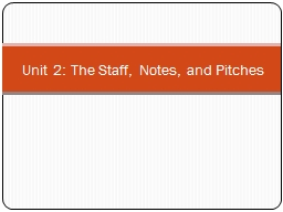Unit 2: The Staff, Notes, and Pitches PowerPoint PPT Presentation