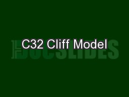 C32 Cliff Model PowerPoint PPT Presentation