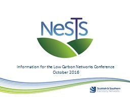 Information for the Low Carbon Networks Conference