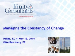 Managing the Constancy of Change PowerPoint PPT Presentation