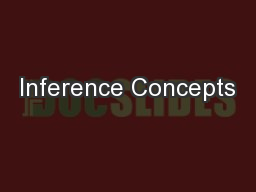 Inference Concepts PowerPoint PPT Presentation