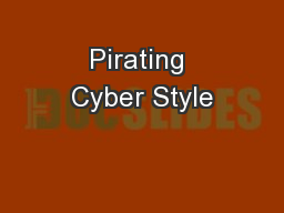 Pirating Cyber Style