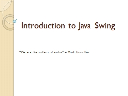 Introduction to Java Swing