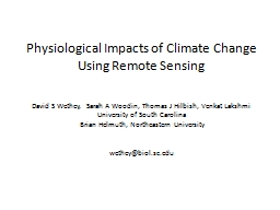 Physiological Impacts of Climate Change