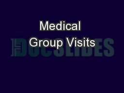 Medical Group Visits