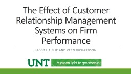 The Effect of Customer Relationship Management Systems on F