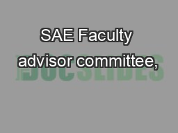 SAE Faculty advisor committee, PowerPoint PPT Presentation