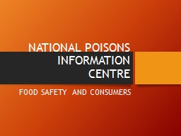 NATIONAL POISONS PowerPoint PPT Presentation