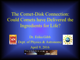 The Comet-Disk Connection: