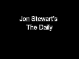 Jon Stewart's The Daily