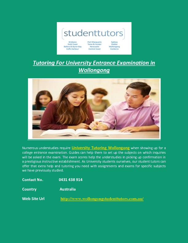 Tutoring For University Entrance Examination in Wollongong