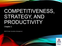 Competitiveness, Strategy, and Productivity PowerPoint PPT Presentation