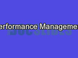 Performance Management PowerPoint PPT Presentation