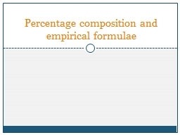 Percentage composition and empirical formulae