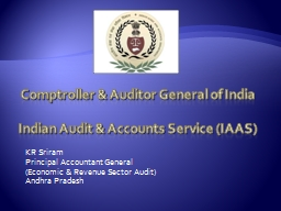 Comptroller & Auditor General of India