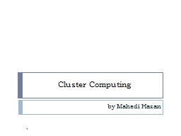 Cluster Computing PowerPoint PPT Presentation