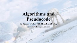 Algorithms, Lists and PowerPoint PPT Presentation