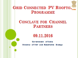 Grid Connected PV Rooftop