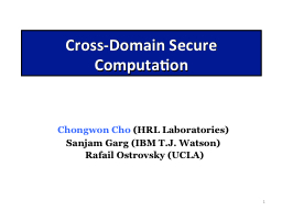 1 Cross-Domain PowerPoint PPT Presentation