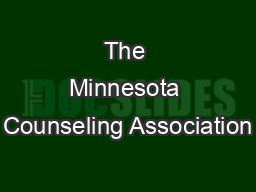 The Minnesota Counseling Association