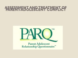 Assessment and treatment of