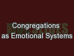 Congregations as Emotional Systems