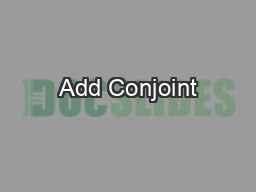 Add Conjoint